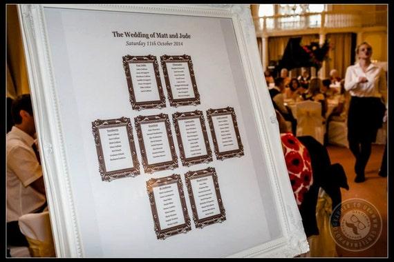 market wedding table plan