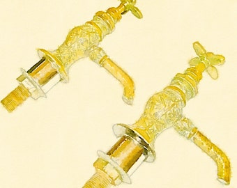 VICTORIAN solid BRASS FAUCETS