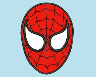 SALE - Spiderman Face Applique - Embroidery Machine Design