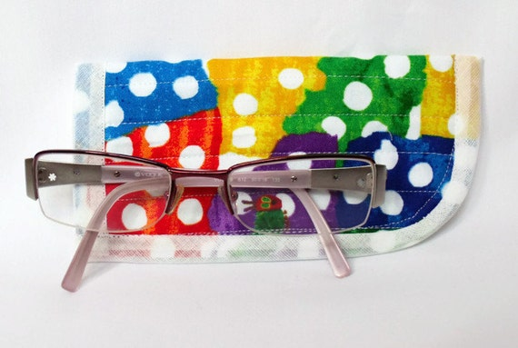childs quilted spectacle holder, childs glasses case, sunglasses cover, eyeglasses case, quilted glasses protector, glasses holder,