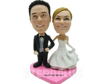 Custom Bride and Groom Wedding Cake Topper,  personalized wedding cake toppers for bride and groom , personalized cake topper,