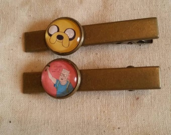 Adventure time with finn pair of barrettes