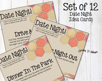 Date Night Idea Cards - Printable Romance Cards