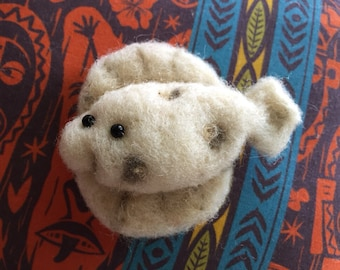 Needlefelted Flounder miniature