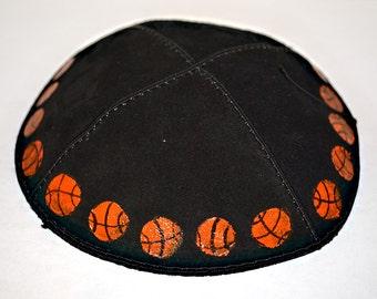 Painted Basketball Kippah / Yarmulke