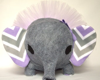 Elfie the Elephant - Personalized Plush - Custom Fabric Choices