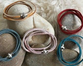 Ronnie- super soft, suede, summer wrap bracelets