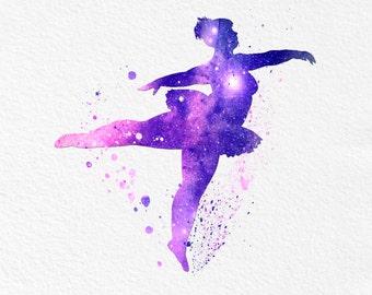 Watercolor Art Plus Size Ballerina  gift Modern 5x7 8x10 11x14 Wall Art Decor body acceptance Illustration Art Wall Hanging  Print