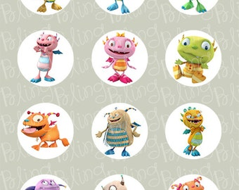 Henry Hugglemonster Edible Icing Cupcake Decor Toppers - HH2C