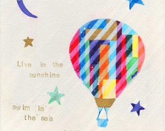 Live In The Sunshine - Hot Air Balloon Print
