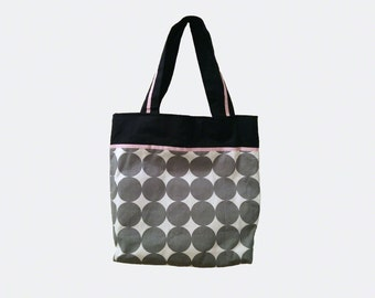 Gray dot bag