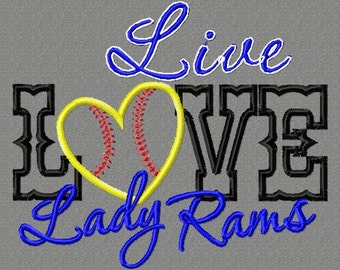 Embroidery Lady Rams Design
