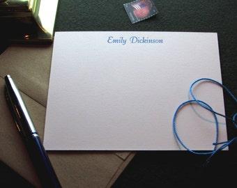Custom Letterpress Stationery - 10 Personalized Notecards - Bernhard Tango