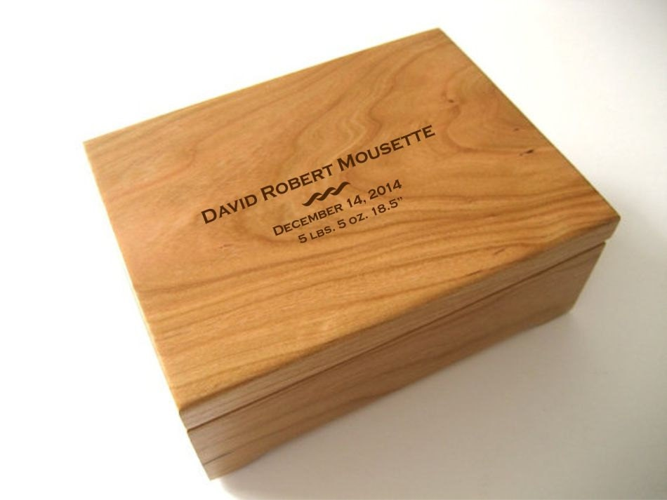 Keepsake Box Custom Engraved Wood Box Cherry Keepsake Box