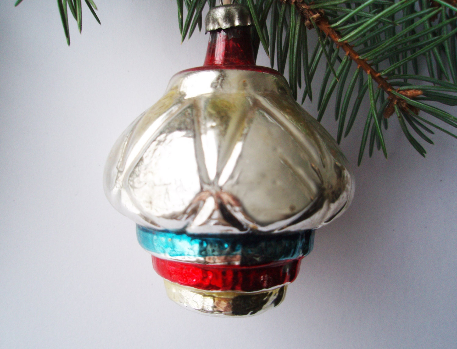 Christmas Ornaments From China : Rare chinese lantern christmas glass ornament by