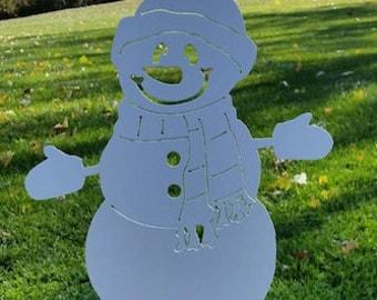 Metal Large Snowman Yard Decoration