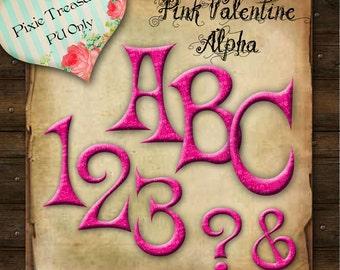 Pink Valentines Alphabet