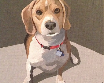 8x8 Custom Pet Portrait In Acrylic on Ready to Hang Gallery Wrapped Canvas
