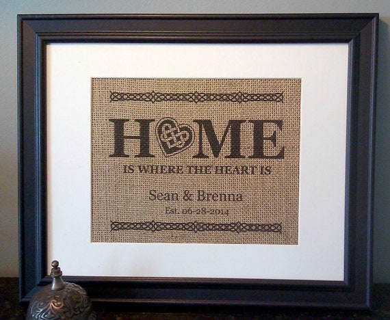 Scottish Wedding Gifts: Burlap Wedding Print Irish Wedding Gift 1st By SKOPrints