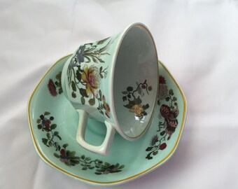 Tea Cup and Saucer  Adams Calyx Ware English Ironstone MING JADE Cups & Saucers