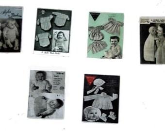 Six Baby Knitting Patterns Dolls House Miniature