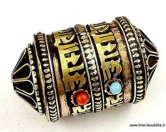 MILL A PRAYER Buddhist Tibetan pendant, mantra of chenrezi ref 6354