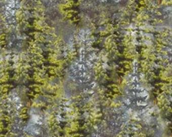 Loon Lake - Grey Pines Fabric