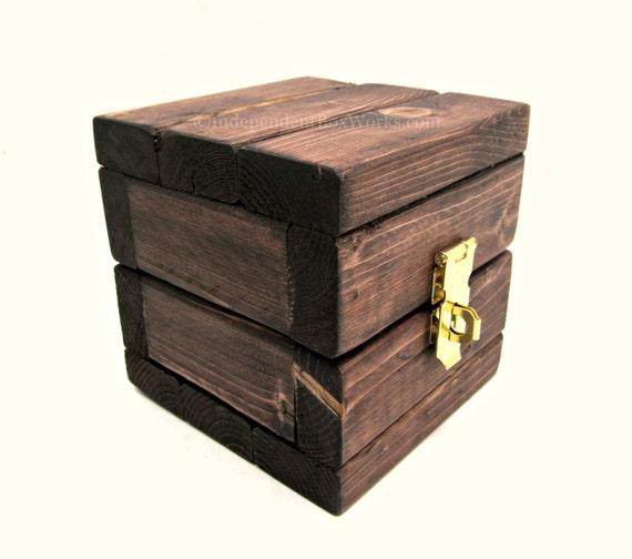 Petit coffret bois boîte de rangement Cube par  ~ Petit Coffret Bois