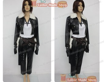Final Fantasy Dissidia Squall Cosplay Costume black
