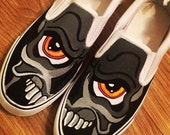 Skull Graffiti Shoes Custom Shoes Custom Converse Converse Allstars Vans Shoes Painted Shoes