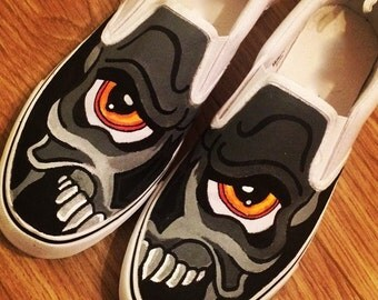 Skull Graffiti Shoes, Custom Shoes, Custom Converse, Converse Allstars, Vans Shoes, Painted Shoes