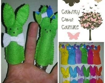 Felt Easter Bunny Finger Puppets ~ Set of 5, 6, 10 or 12