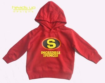 Personalized Hoodie Incredibles - Incredibles Sweatshirt Toddler Boy/Girl - Incredibles Sweatshirt Kid - Incredibles Costume -