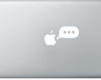 Stickers Macbook 11-13-15-17 inches - Writing
