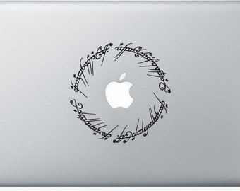 Sticker Macbook - The Lord of the Rings - Decal for MacBook Air Pro Retina - 11 12 13 15 or 17 inches - Skin for macbook easy to stick