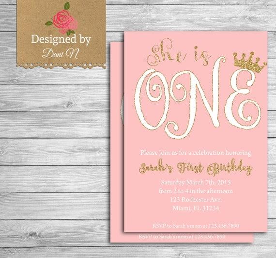 Wonderful Princess Birthday Party INVITATION, Little princess printable  NR19