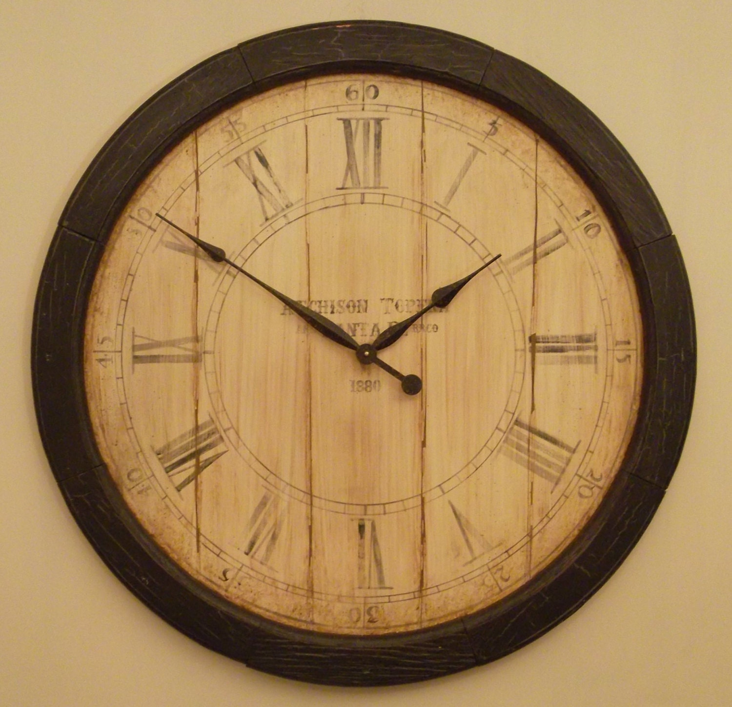 Custom Clock 24 Inch Railroad Style Dial Wall Clock