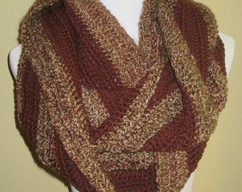 Infinity Scarf; Cowl Scarf; Cowl Neck Scarf; 18th Century Scarf; Scottish Scarf; Crochet Scarf; Crochet Cowl Scarf; Crochet Infinity Scarf