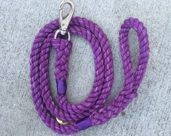 Rope Leash--Cotton--PURPLE