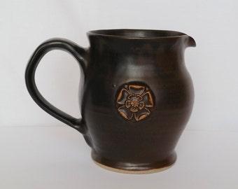 Vintage stoneware ceramic milk jug creamer gravy jug Jerry Harper handblown York England