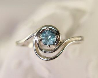 Beautiful Apatite Swirl Ring