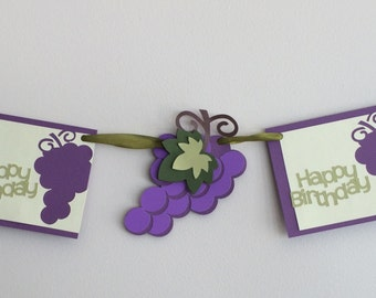 Happy Birthday banner - wine banner