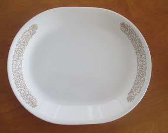 Vintage Corelle Woodland pattern Oval Serving Platter
