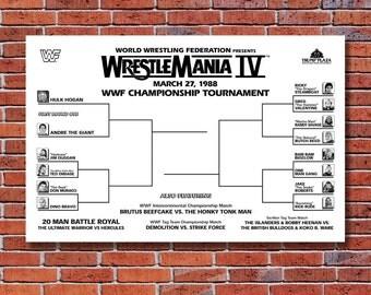 WWF Wrestlemania 4 Tournament Poster
