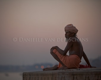 Looking out over the Ganges, Varanasi, Benaris, River, India