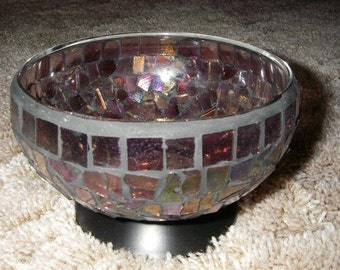 Stained glass mosaic bowl.