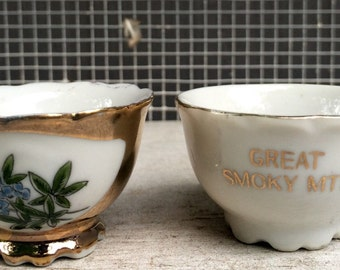 Small, Gold Detail Teacups