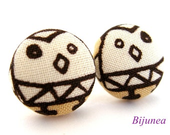 Owl earrings - White owl earrings - Owl studs - Owl stud earrings - Owl posts - Owl post earrings sf952