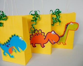Dinosaur Party Favors/  Goodie Bag/ Birthday Party....SET OF 5...