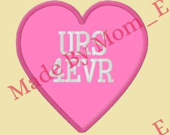 Conversation Heart Applique - URS 4EVR